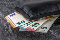 Una cartera con billetes. PIXABAY