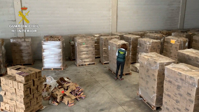 Alimentos decomisados por la Guardia Civil
