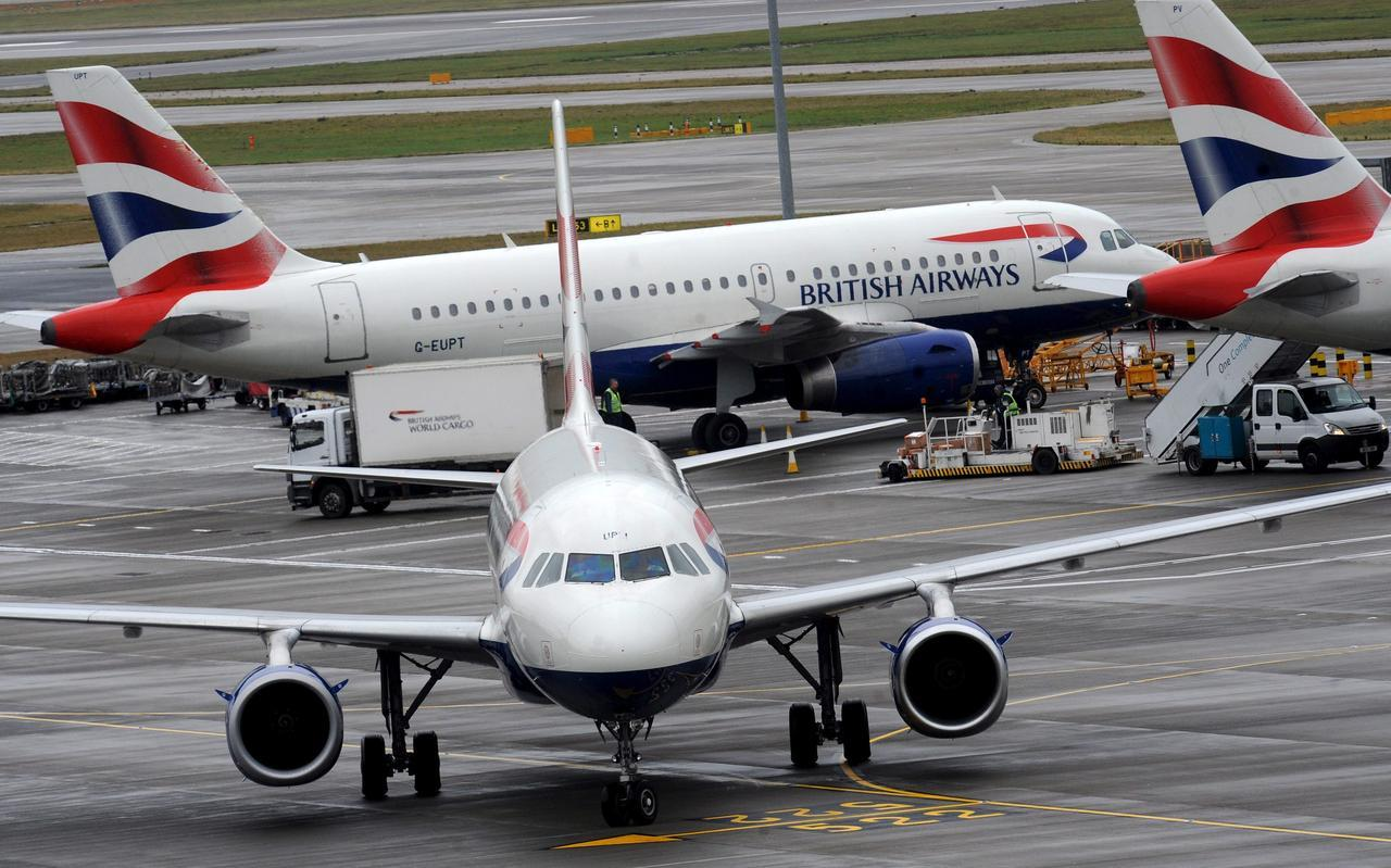 Aviones de British Airways. AEP