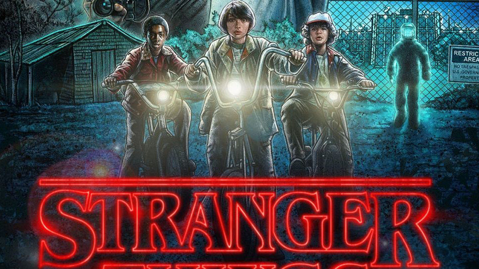 Cartel promocional de Stranger Things