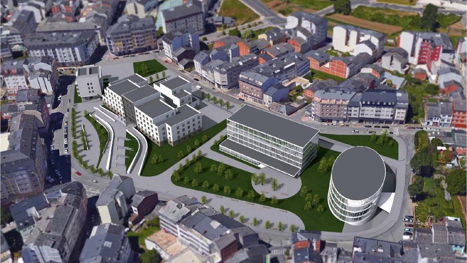 717194085 ... Residencia Hospital-Materno-Infantil. Proyecto del centro de salud  integrado de Lugo. EP