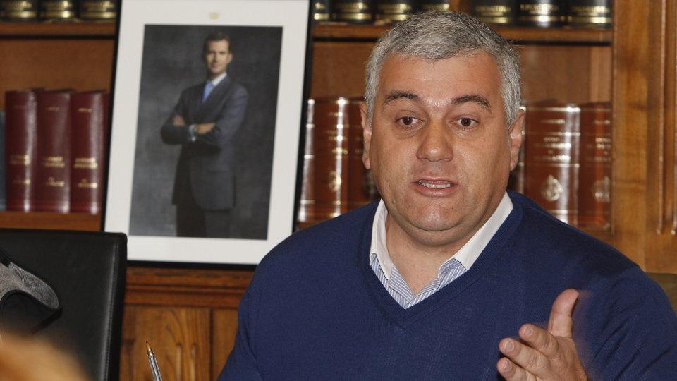 Alfonso Fuente Parga, alcalde de Barreiros. J.Mª ÁLVEZ