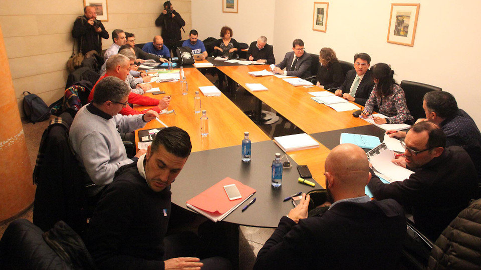 Reunión entre sindicatos de Justicia y la Xunta. PEPE FERRÍN