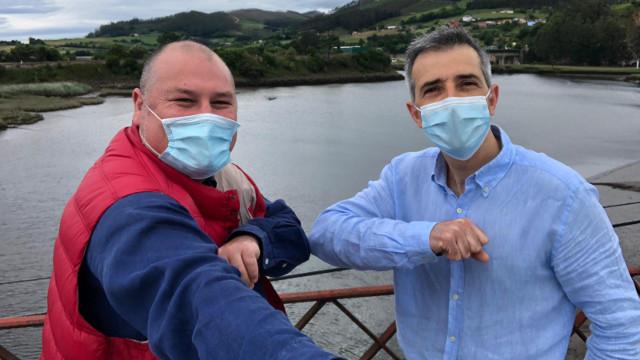 Los alcaldes de Vegadeo y Ribadeo. EP