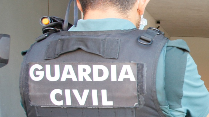 Un agente de la Guardia Civil, de espaldas. EUROPA PRESS
